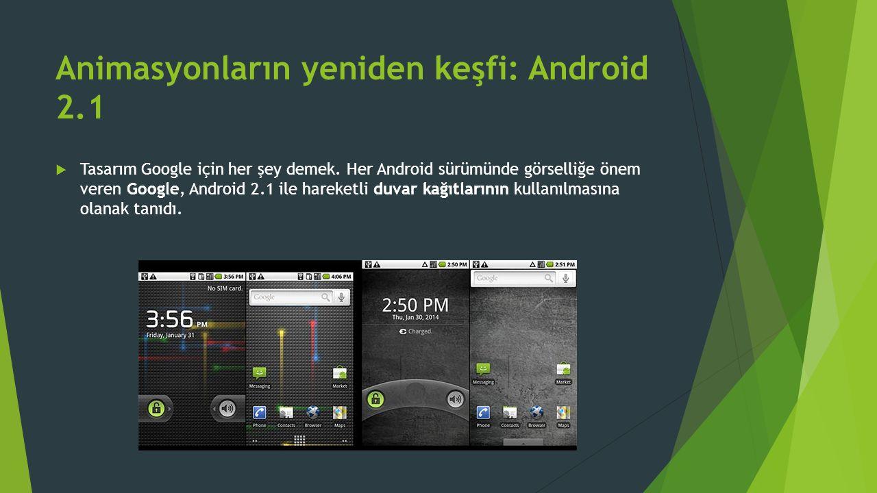 Animasyonların yeniden keşfi: Android 2.1