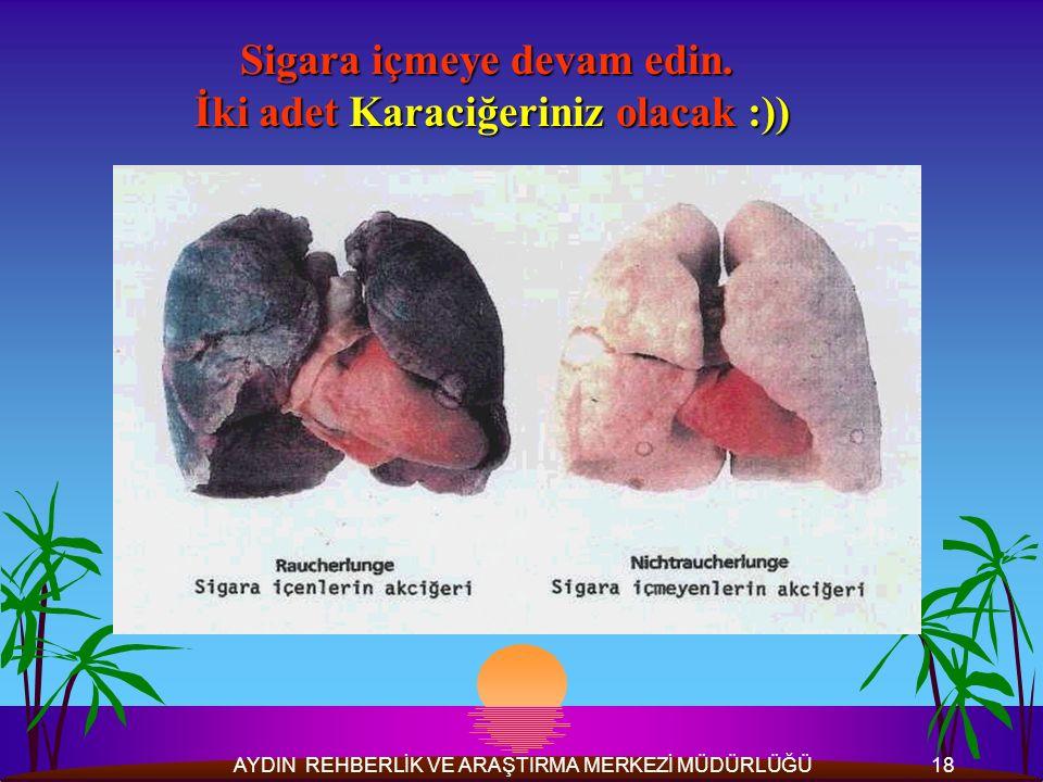 Sigara içmeye devam edin. İki adet Karaciğeriniz olacak :))