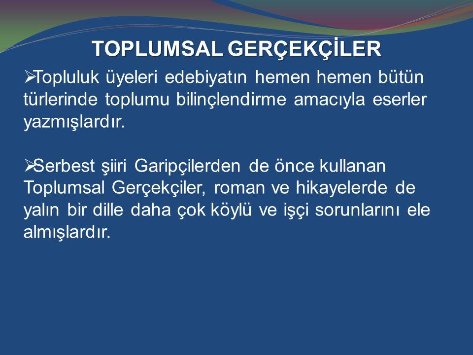 TOPLUMSAL GERÇEKÇİLER