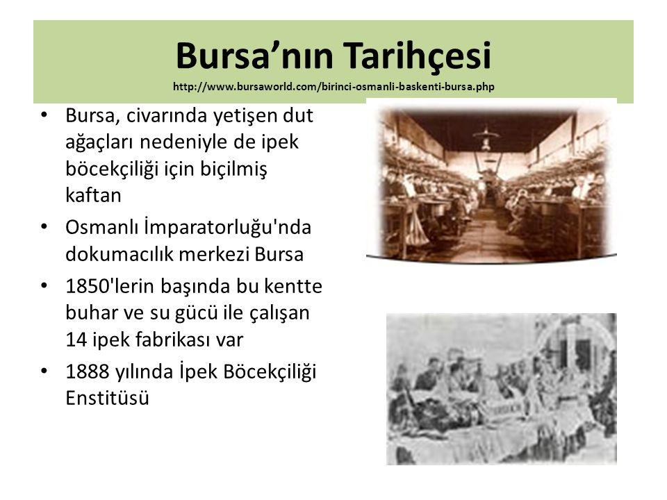 Bursa'nın Tarihçesi http://www. bursaworld