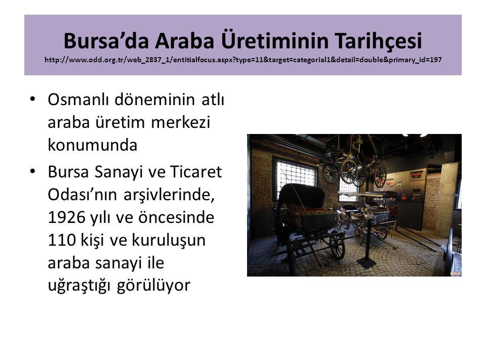 Bursa'da Araba Üretiminin Tarihçesi http://www. odd. org