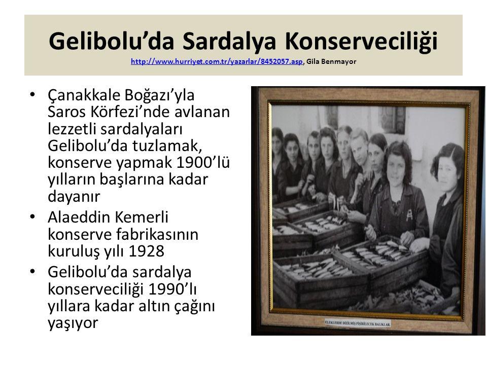 Gelibolu'da Sardalya Konserveciliği http://www. hurriyet. com