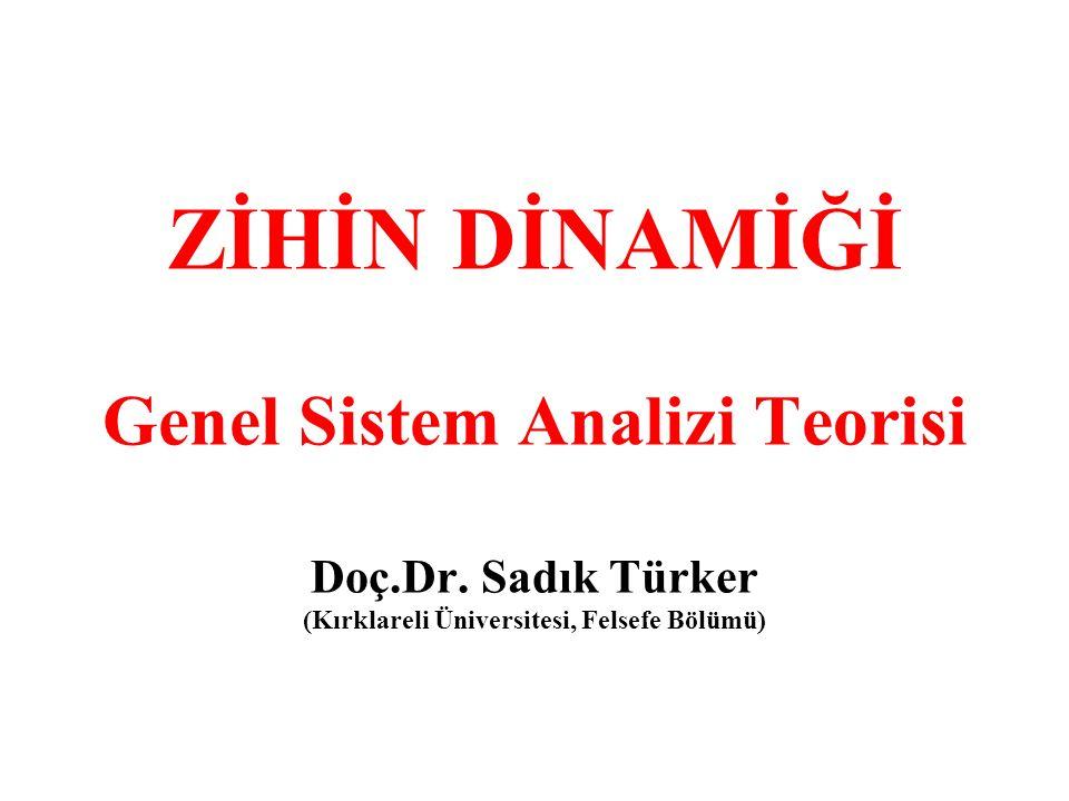 ZİHİN DİNAMİĞİ Genel Sistem Analizi Teorisi Doç. Dr