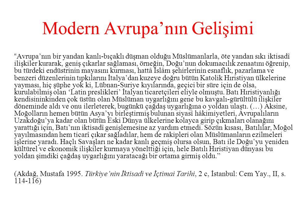 Modern Avrupa'nın Gelişimi