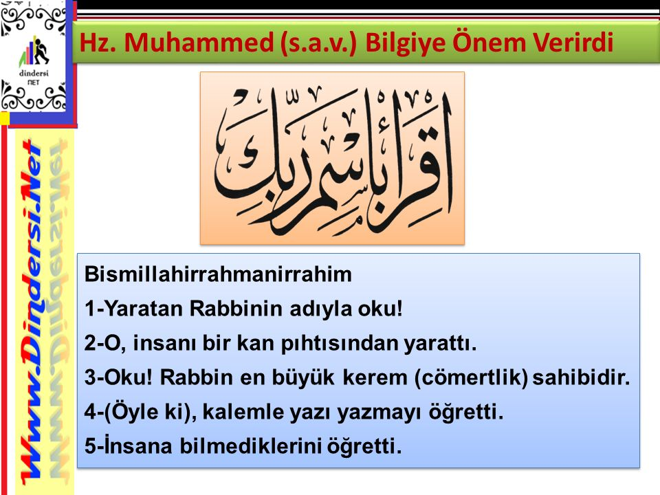 Hz. Muhammed (s.a.v.) Bilgiye Önem Verirdi