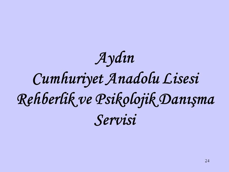 Cumhuriyet Anadolu Lisesi Rehberlik ve Psikolojik Danışma Servisi