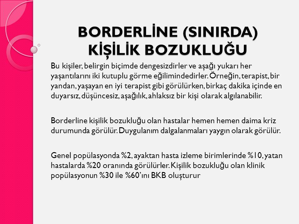 BORDERLİNE (SINIRDA) KİŞİLİK BOZUKLUĞU