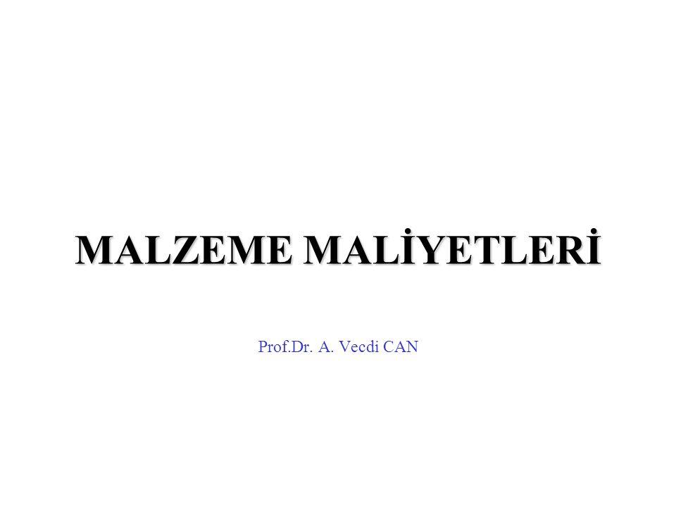 MALZEME MALİYETLERİ Prof.Dr. A. Vecdi CAN