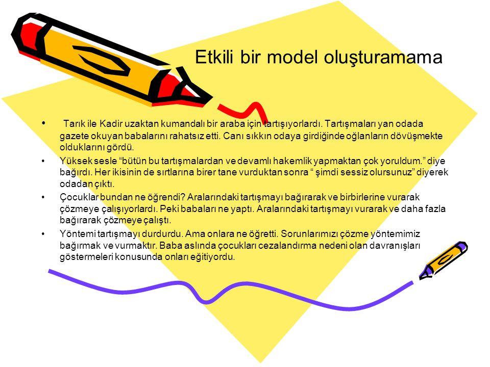 Etkili bir model oluşturamama