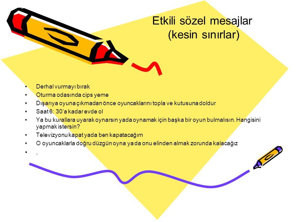 Etkili sözel mesajlar (kesin sınırlar)