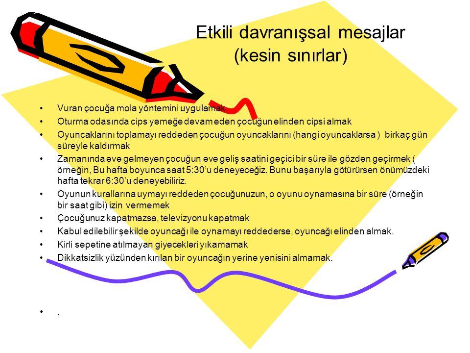 Etkili davranışsal mesajlar (kesin sınırlar)