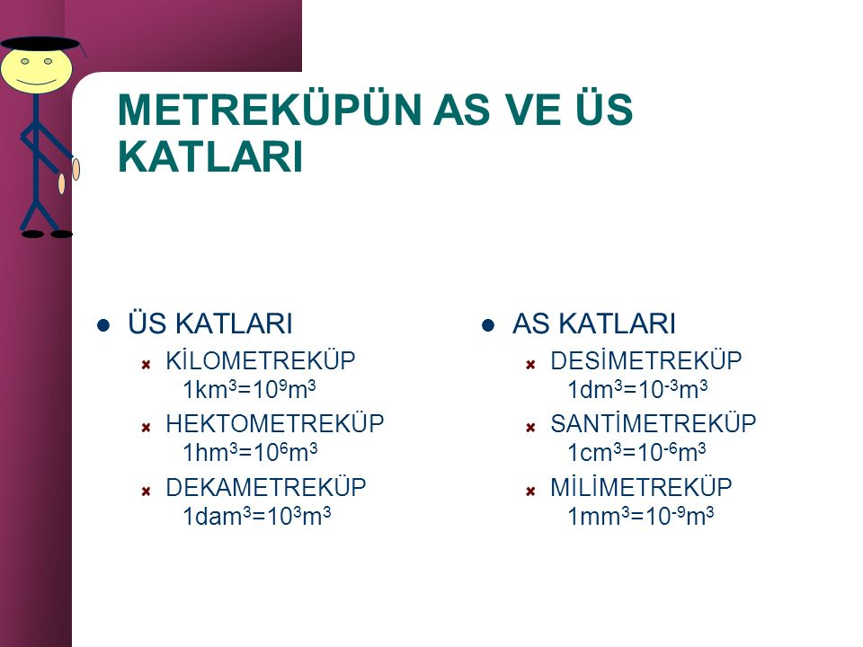 METREKÜPÜN AS VE ÜS KATLARI