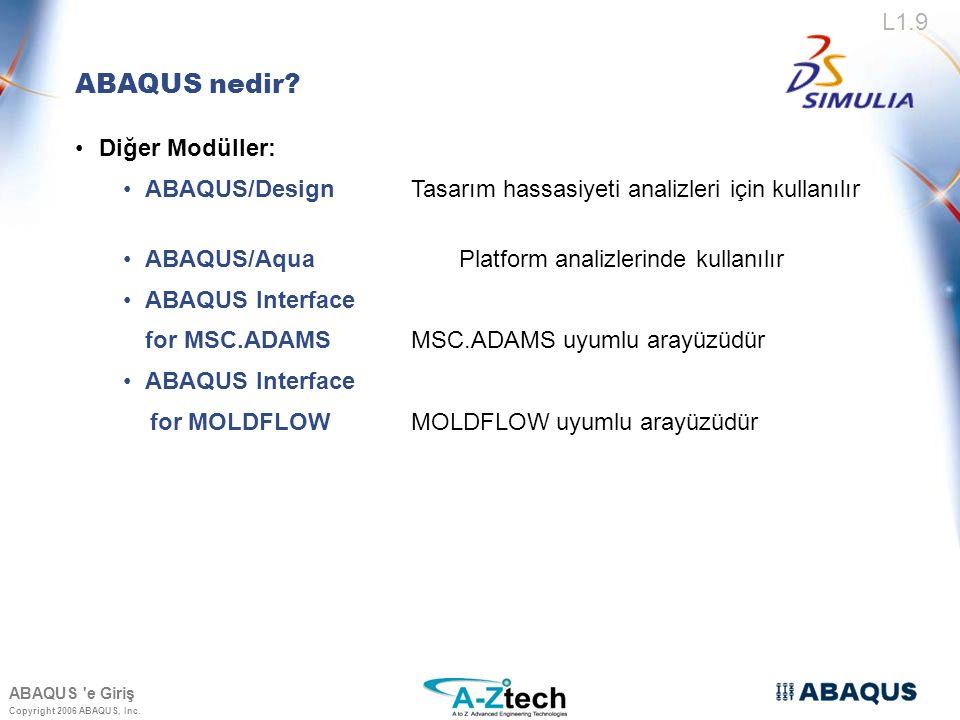 ABAQUS nedir Diğer Modüller: