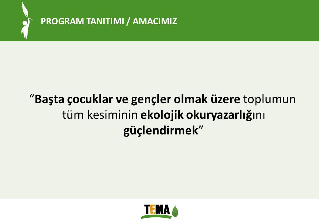 PROGRAM TANITIMI / AMACIMIZ