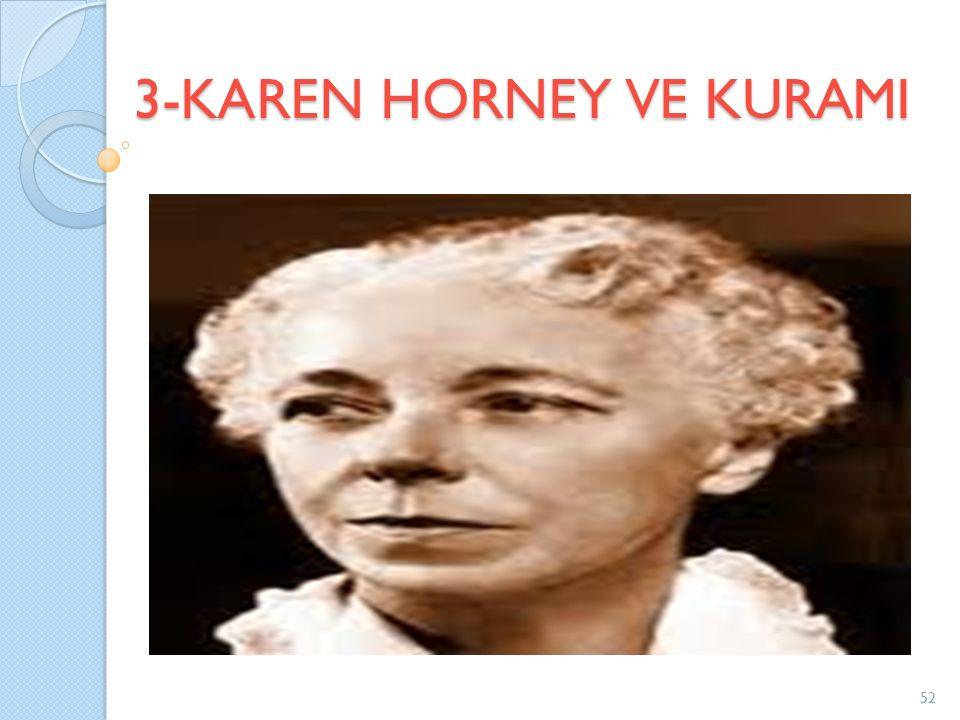 3-KAREN HORNEY VE KURAMI
