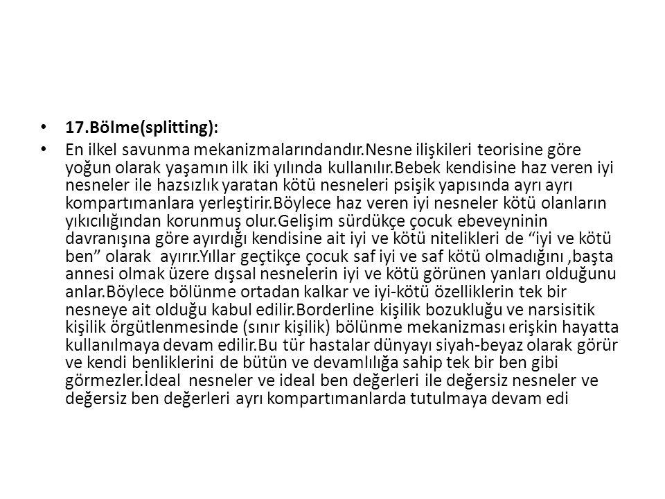 17.Bölme(splitting):