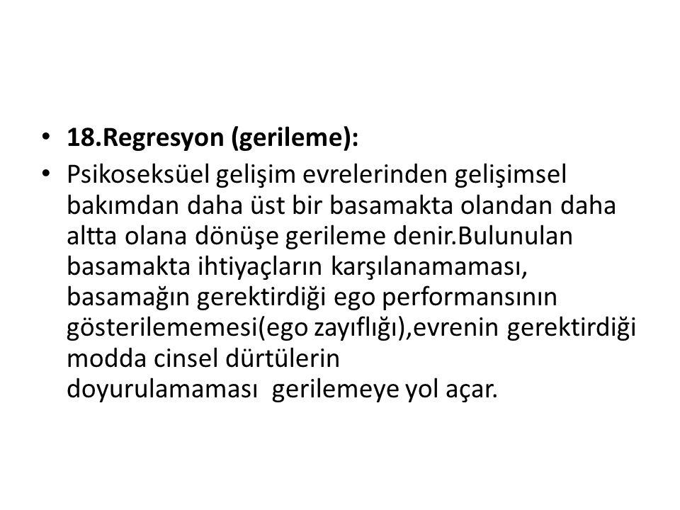 18.Regresyon (gerileme):