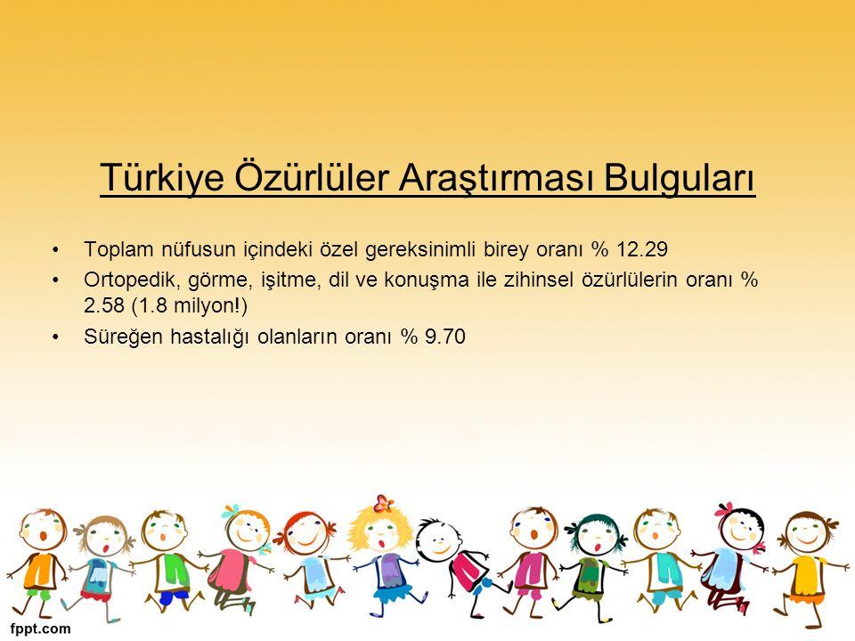 Türkiye Özürlüler Araştırması Bulguları