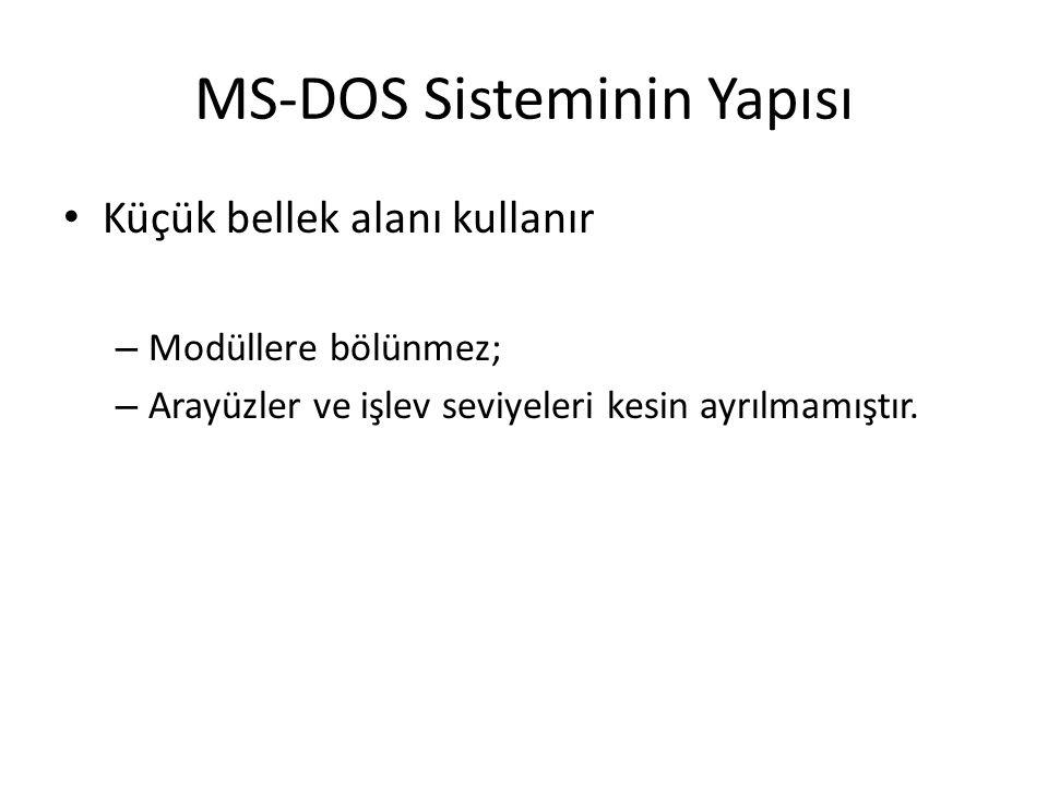MS-DOS Sisteminin Yapısı