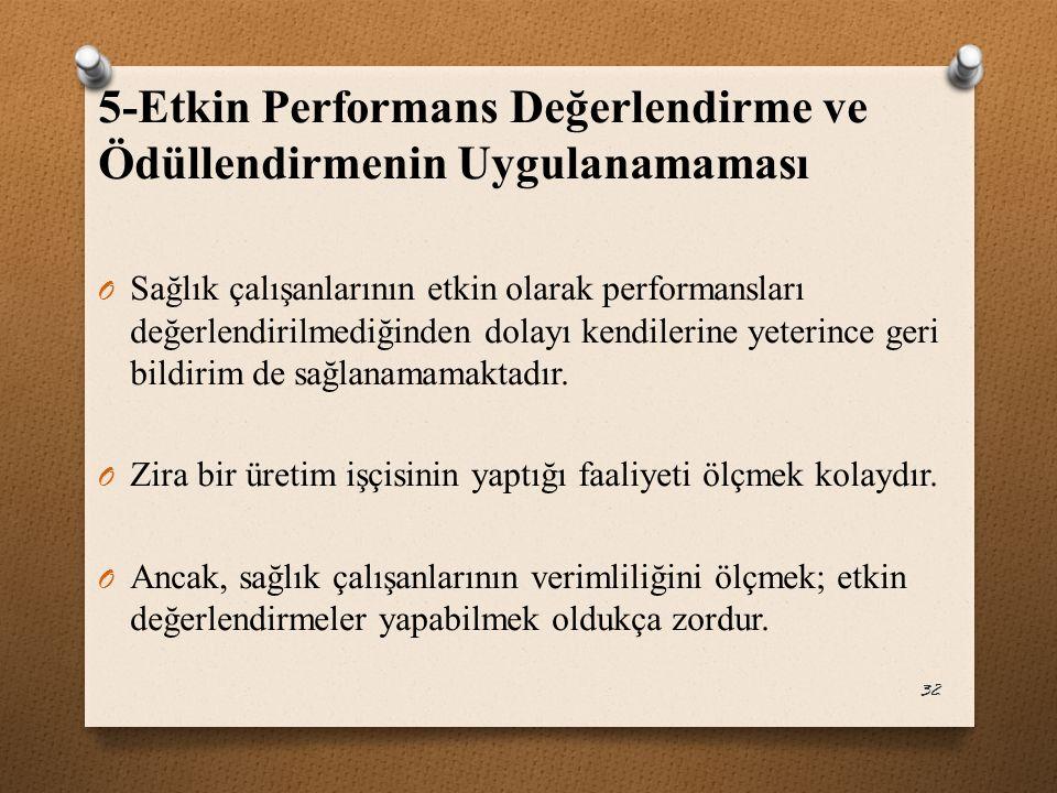 5-Etkin Performans Değerlendirme ve Ödüllendirmenin Uygulanamaması
