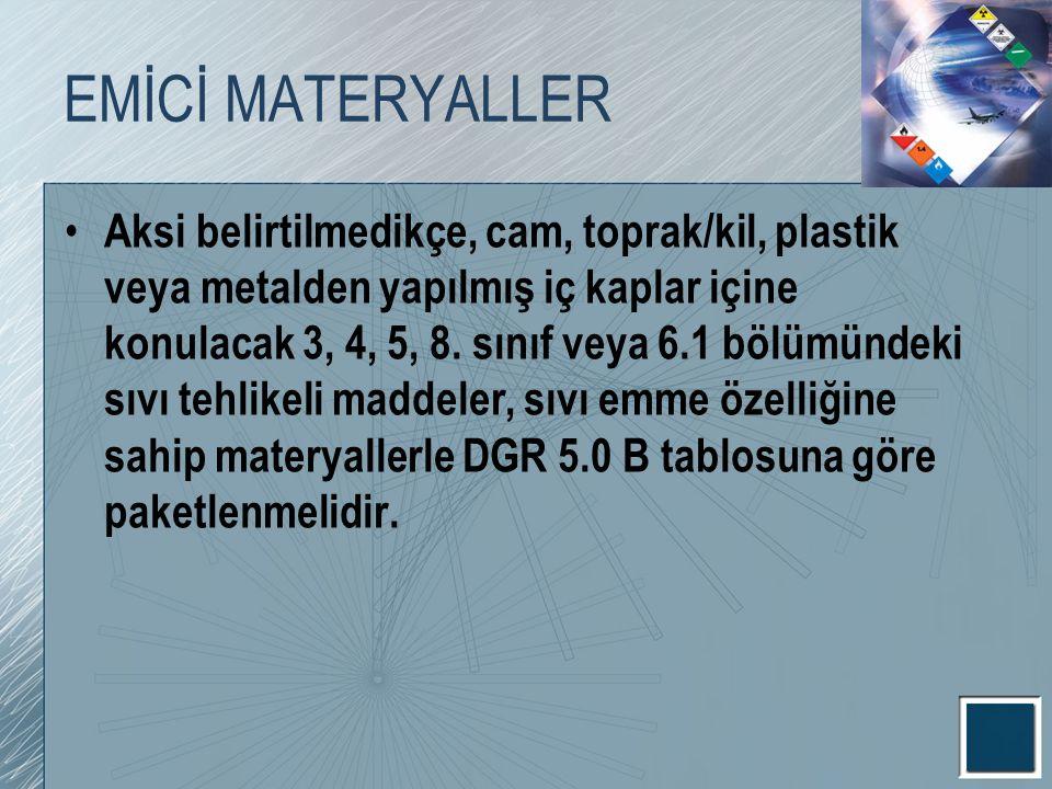 EMİCİ MATERYALLER
