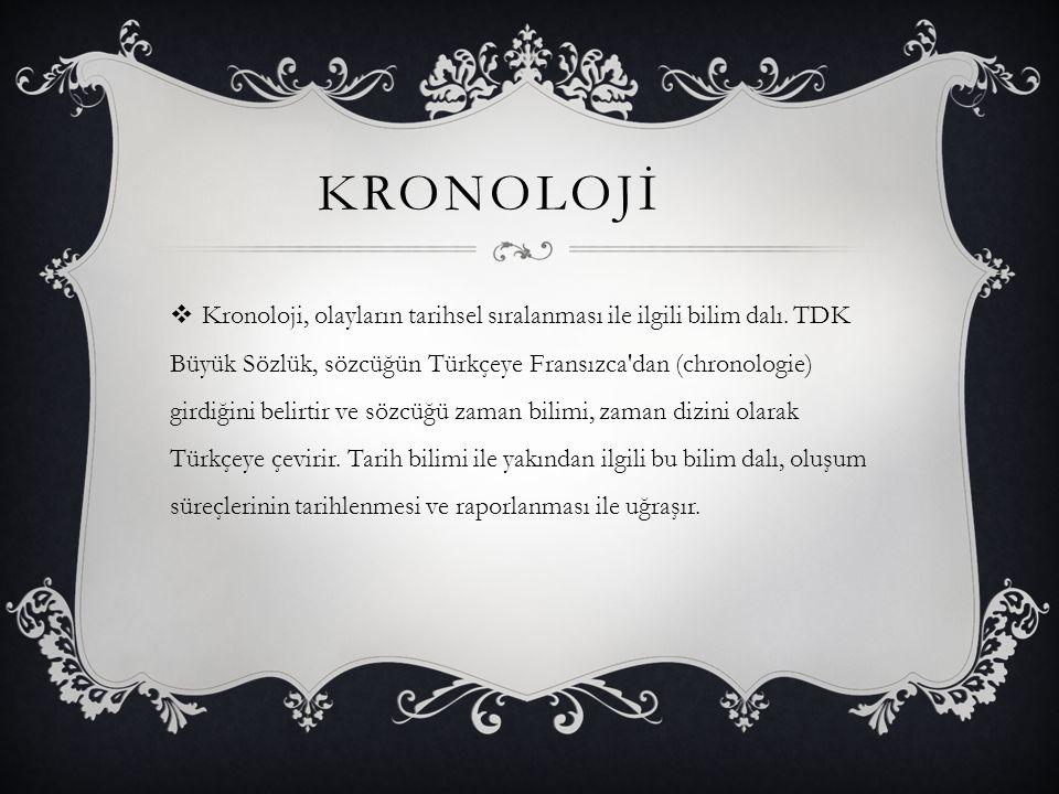 KRONOLOJİ