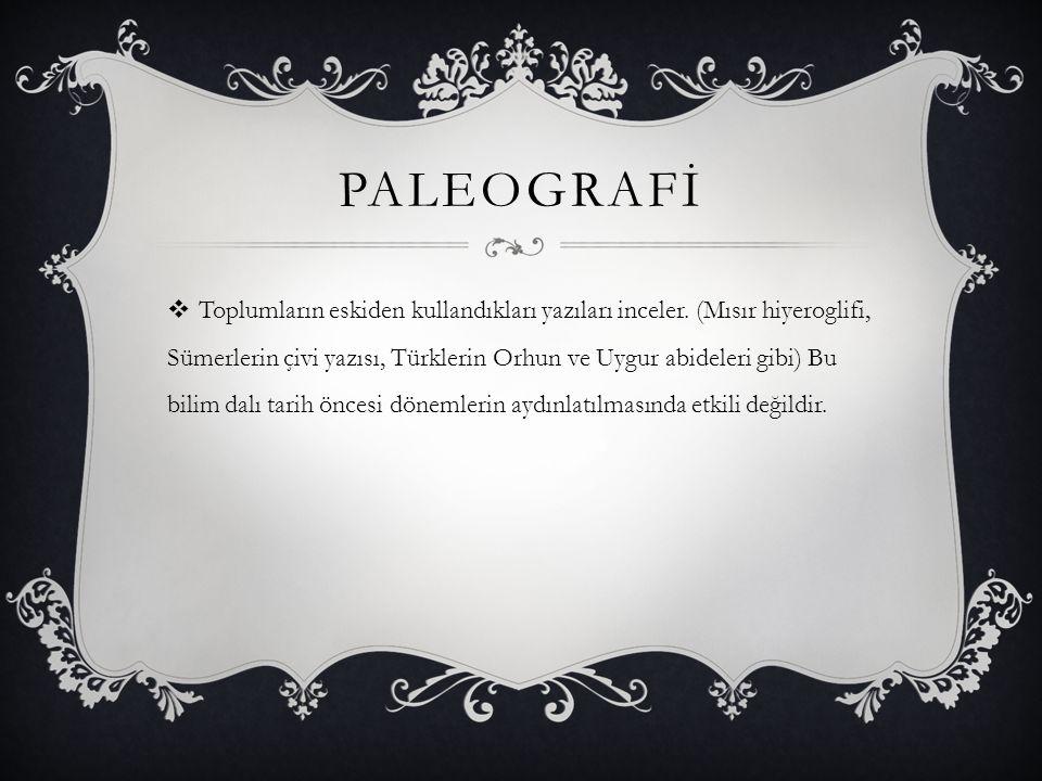 PALEOGRAFİ