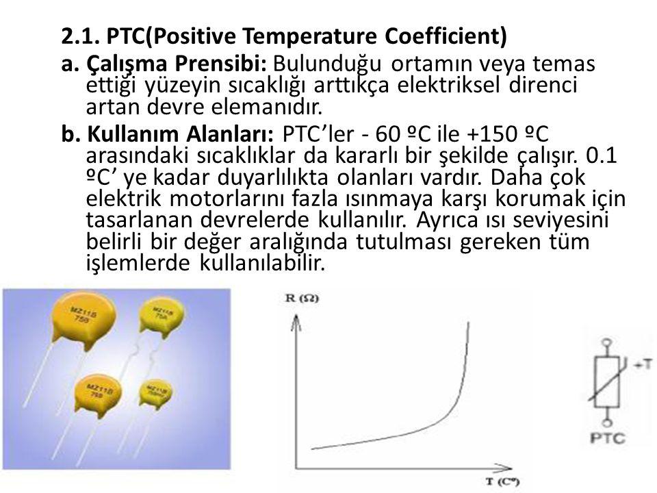 2.1. PTC(Positive Temperature Coefficient)