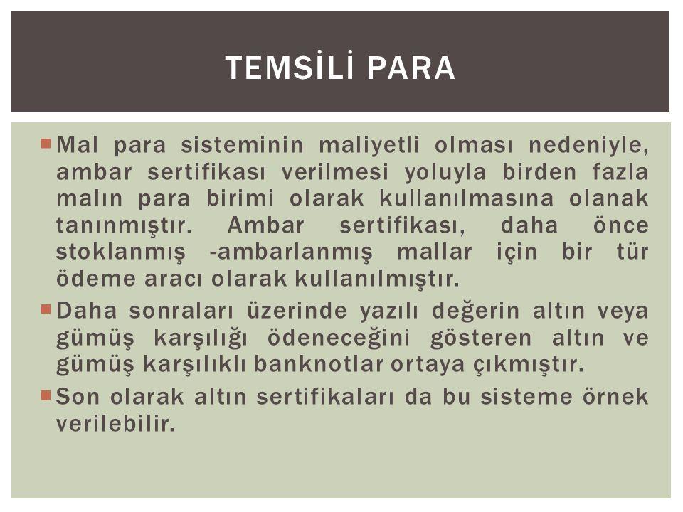 TEMSİLİ PARA