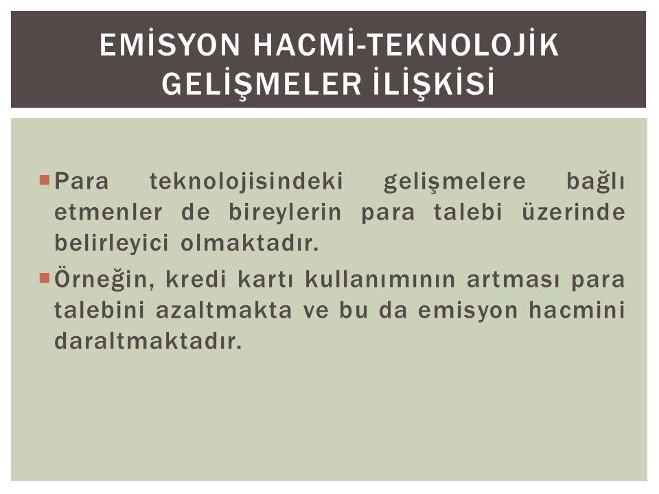 EMİSYON HACMİ-TEKNOLOJİK GELİŞMELER İLİŞKİSİ