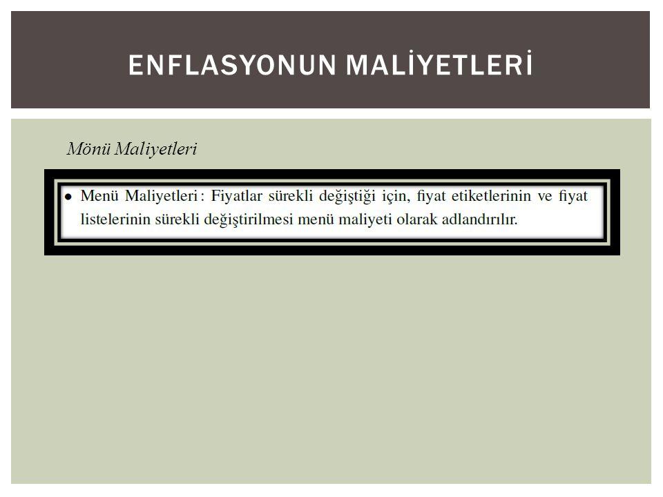 ENFLASYONUN MALİYETLERİ