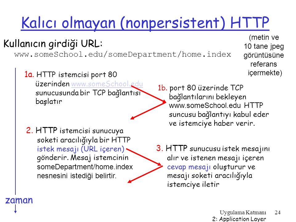 Kalıcı olmayan (nonpersistent) HTTP