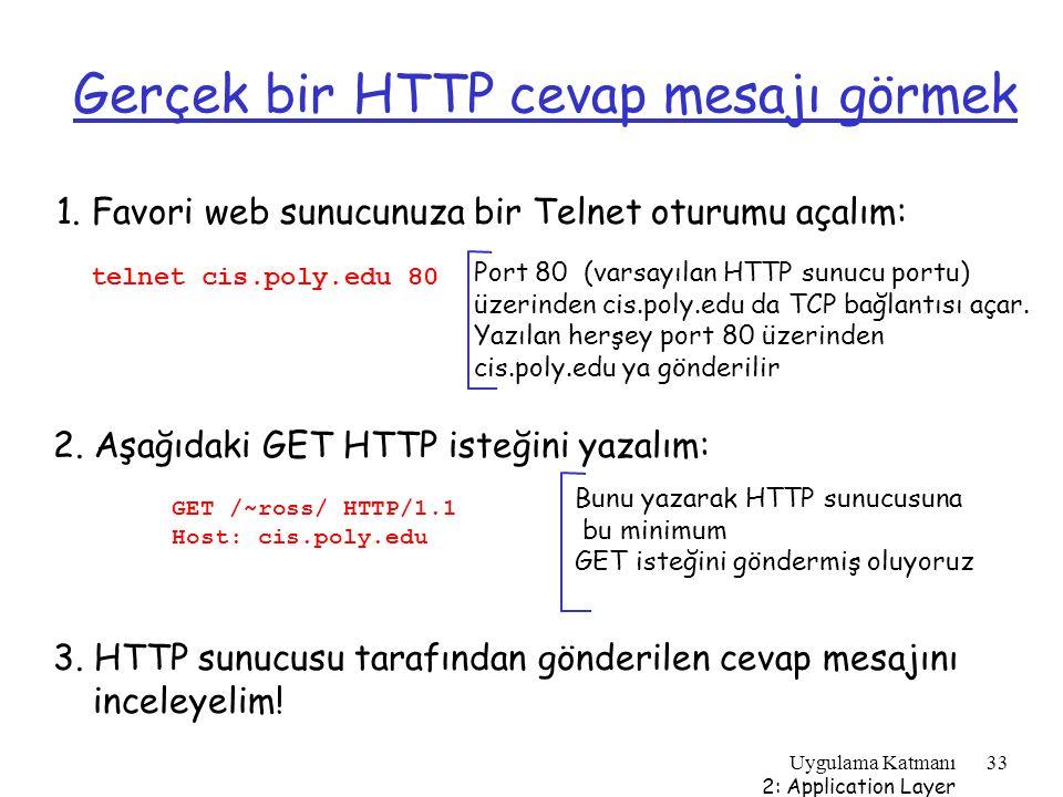 Gerçek bir HTTP cevap mesajı görmek