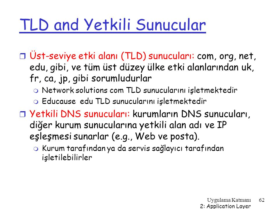 TLD and Yetkili Sunucular