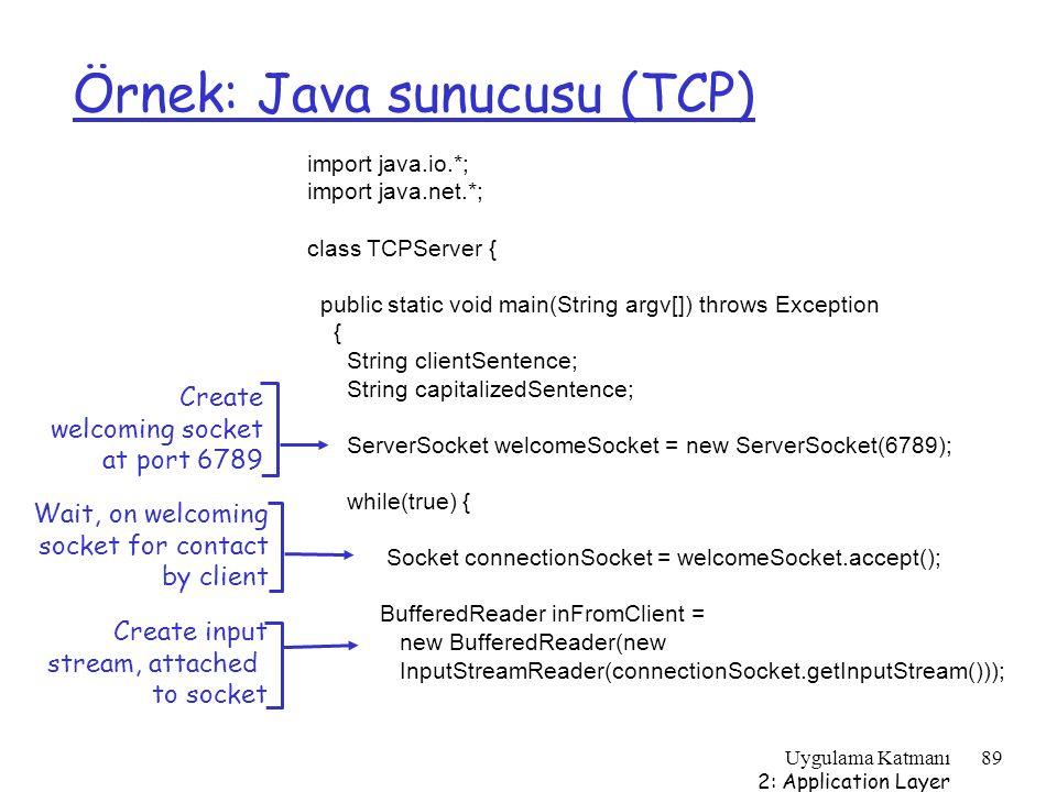Örnek: Java sunucusu (TCP)