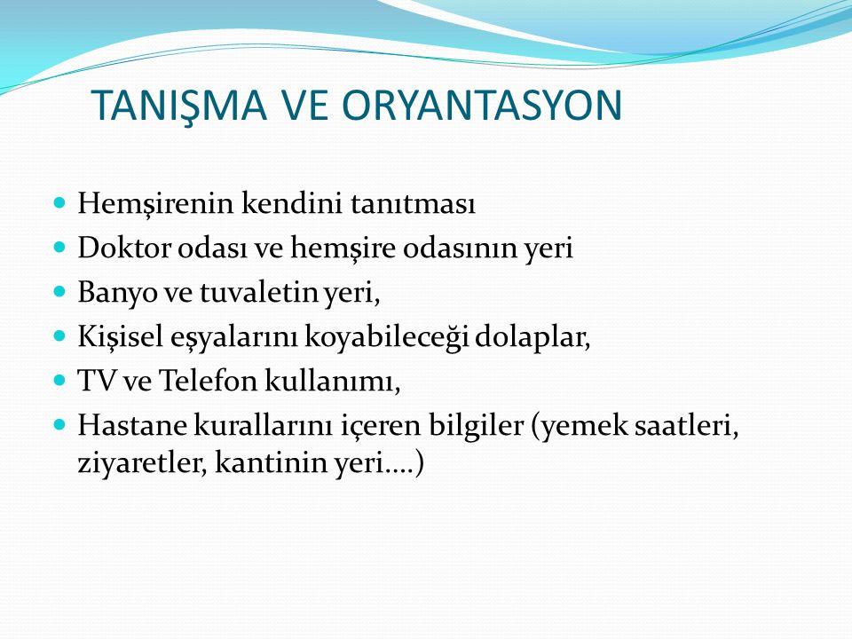 TANIŞMA VE ORYANTASYON