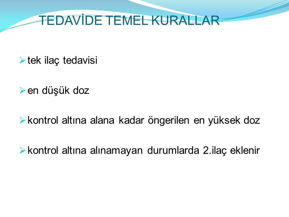 TEDAVİDE TEMEL KURALLAR