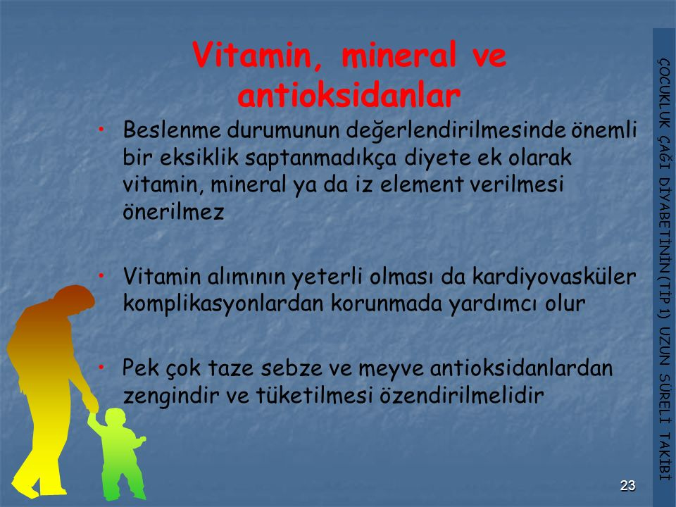 Vitamin, mineral ve antioksidanlar