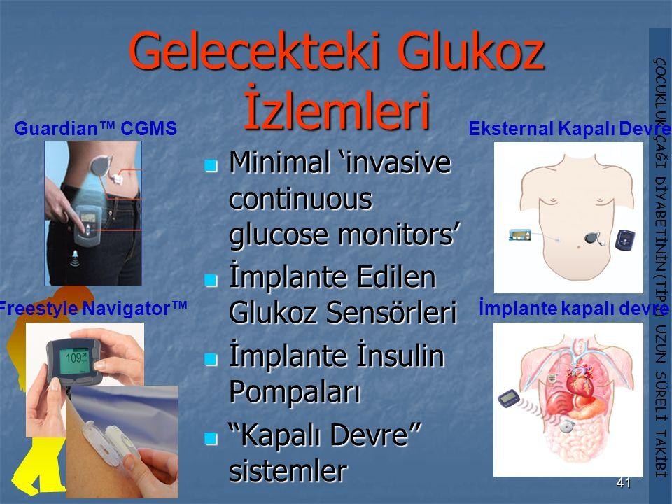 Gelecekteki Glukoz İzlemleri