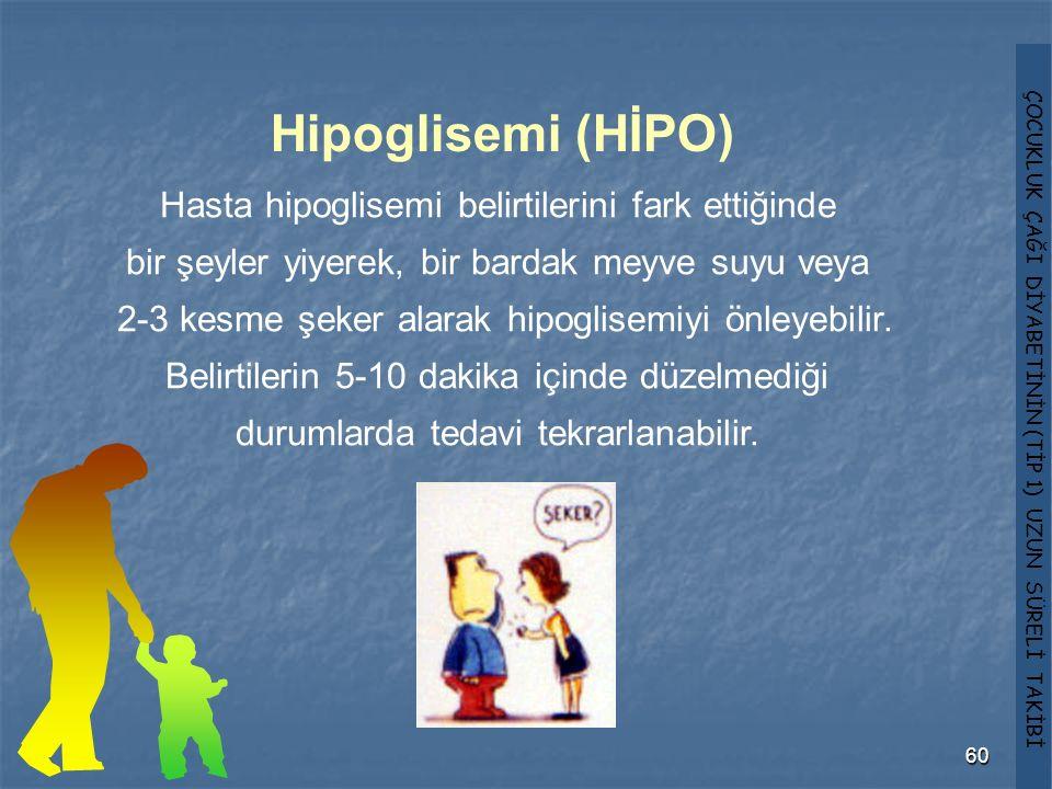Hipoglisemi (HİPO) Hasta hipoglisemi belirtilerini fark ettiğinde