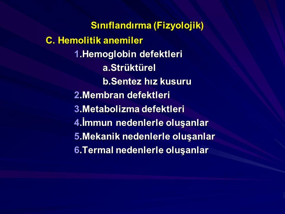 Sınıflandırma (Fizyolojik)
