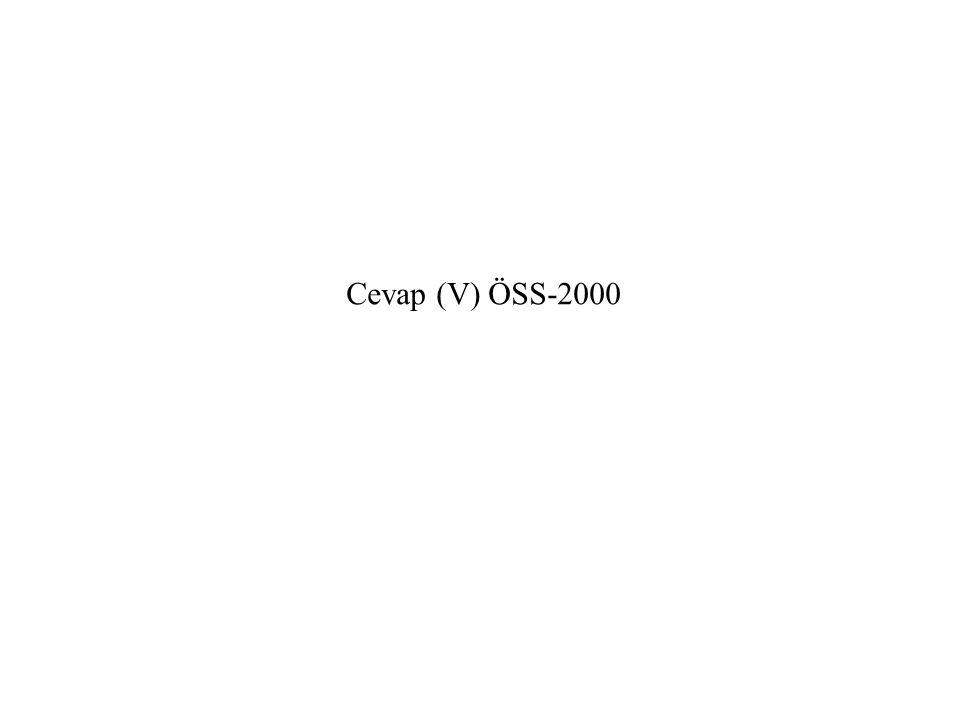 Cevap (V) ÖSS-2000