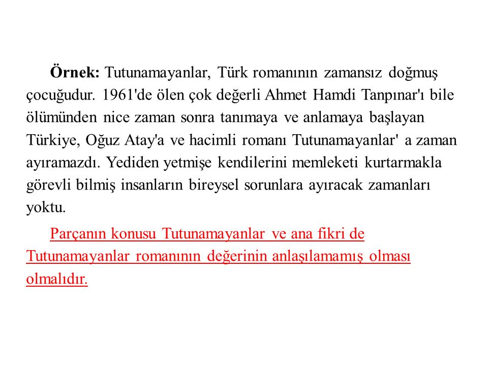 Örnek: Tutunamayanlar, Türk romanının zamansız doğmuş çocuğudur