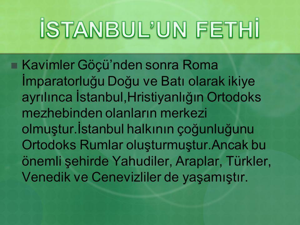 İSTANBUL'UN FETHİ
