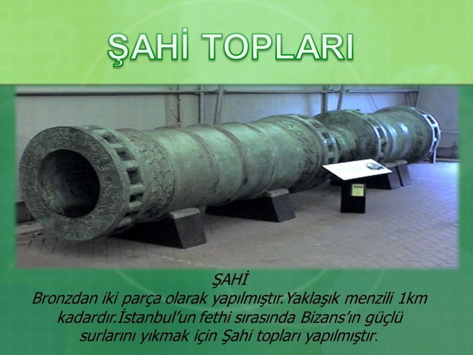 ŞAHİ TOPLARI ŞAHİ.