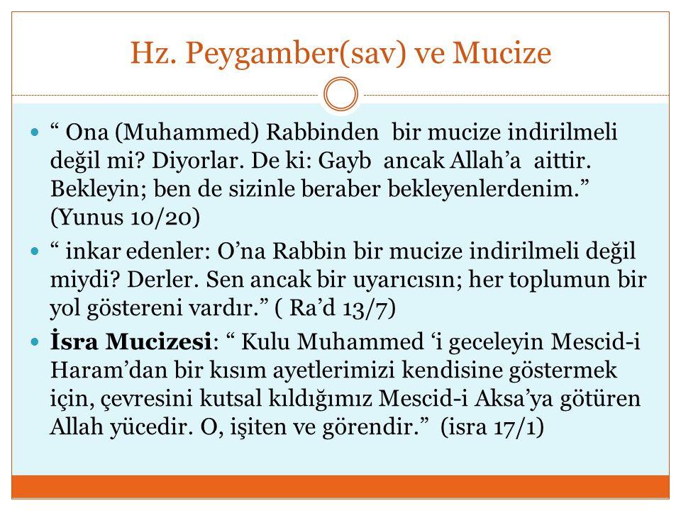 Hz. Peygamber(sav) ve Mucize