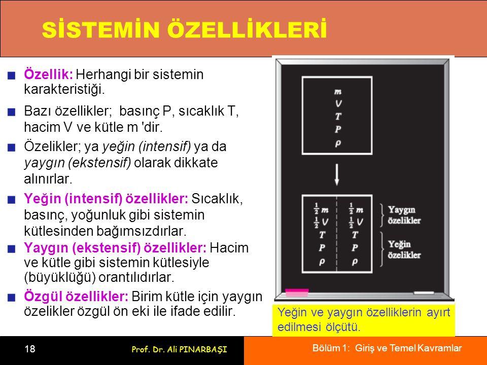 SİSTEMİN ÖZELLİKLERİ Özellik: Herhangi bir sistemin karakteristiği.