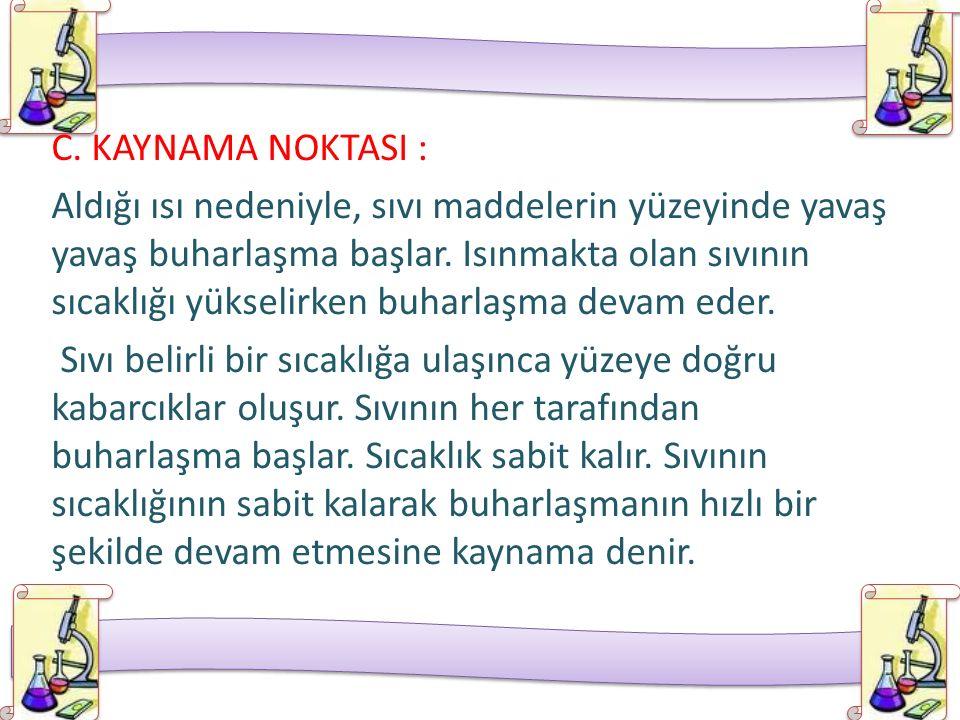 C. KAYNAMA NOKTASI :