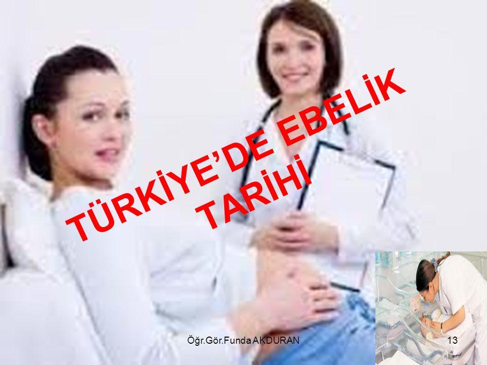 TÜRKİYE'DE EBELİK TARİHİ