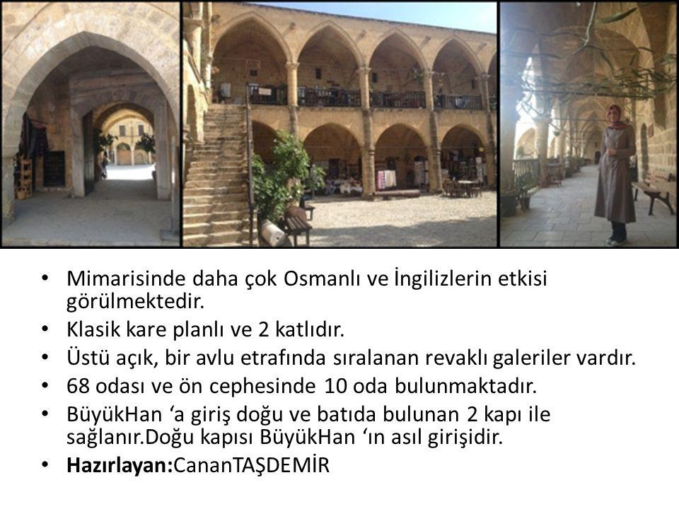 Mimarisinde daha çok Osmanlı ve İngilizlerin etkisi görülmektedir.